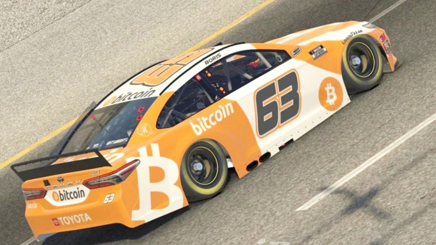Bitcoin Automobile Completes First in Virtual NASCAR Race Pounding National Champ Kyle Busch 17
