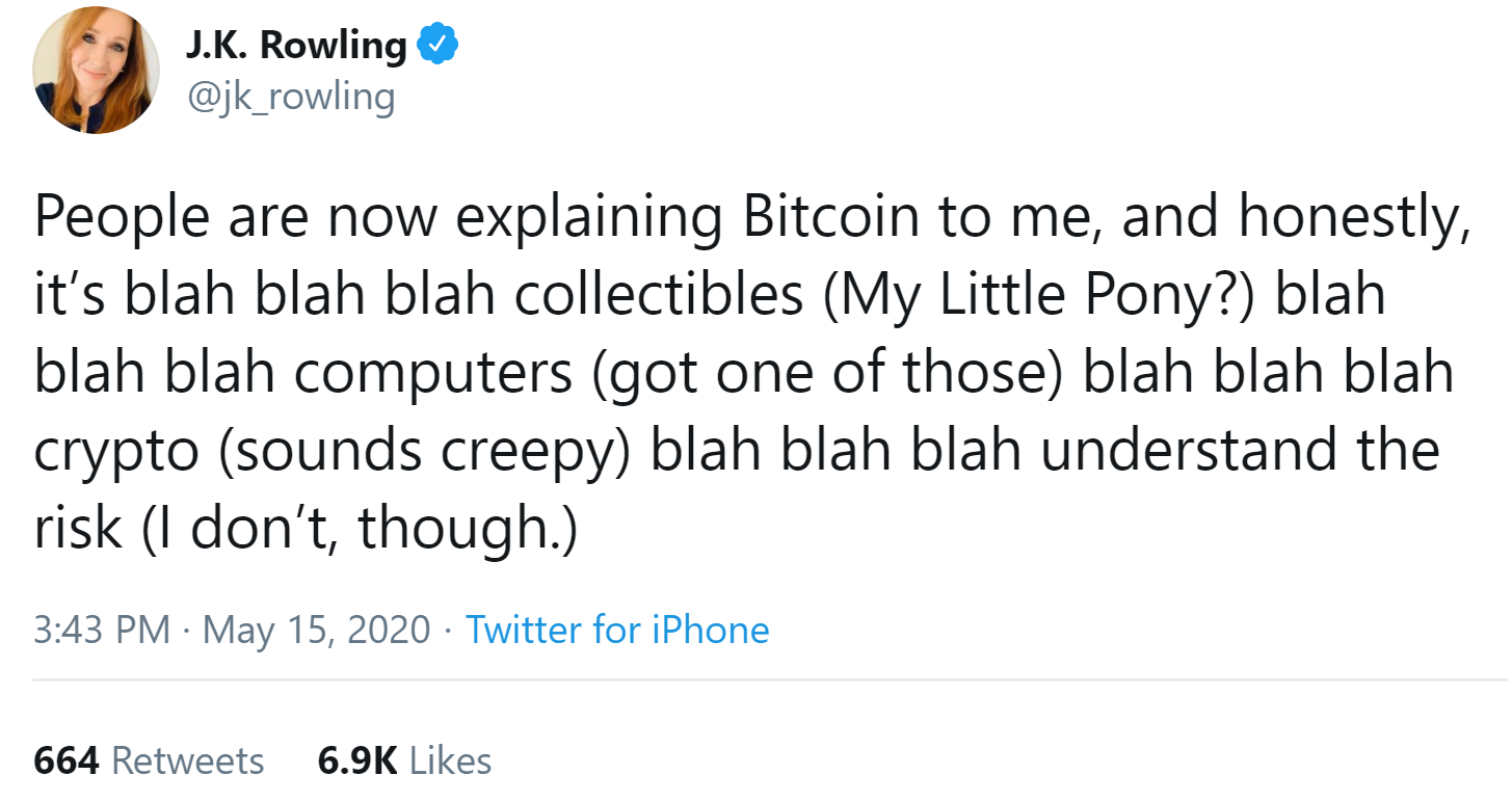 JK Rowling Bitcoin Pursuit: Elon Musk Joins Neighborhood to Describe Cryptocurrency to Harry Potter Writer 7