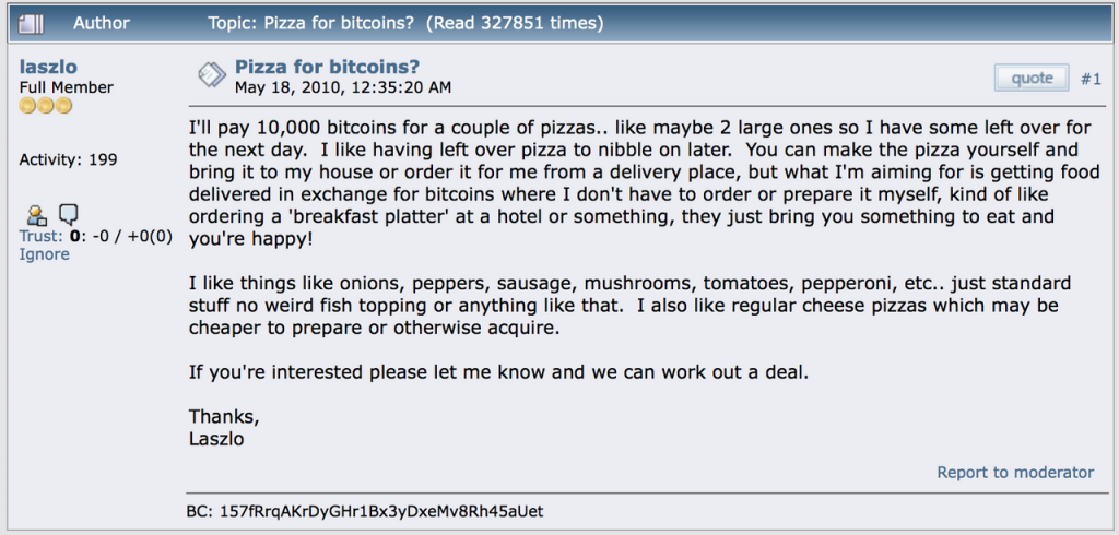 The $90 Million Bitcoin Pizza Tale Has an Unforeseen Positive Side 2