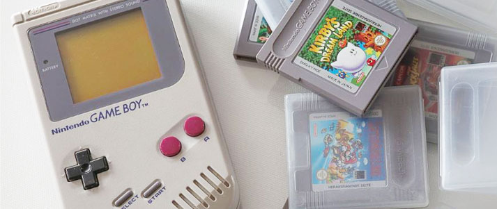 Original Game Boy with games