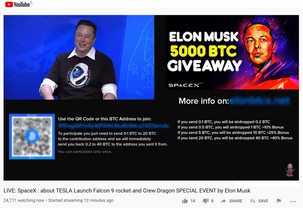 Spacex Bitcoin Rip-off Includes BTC Free Gift, Elon Musk, and also NASA Release 3
