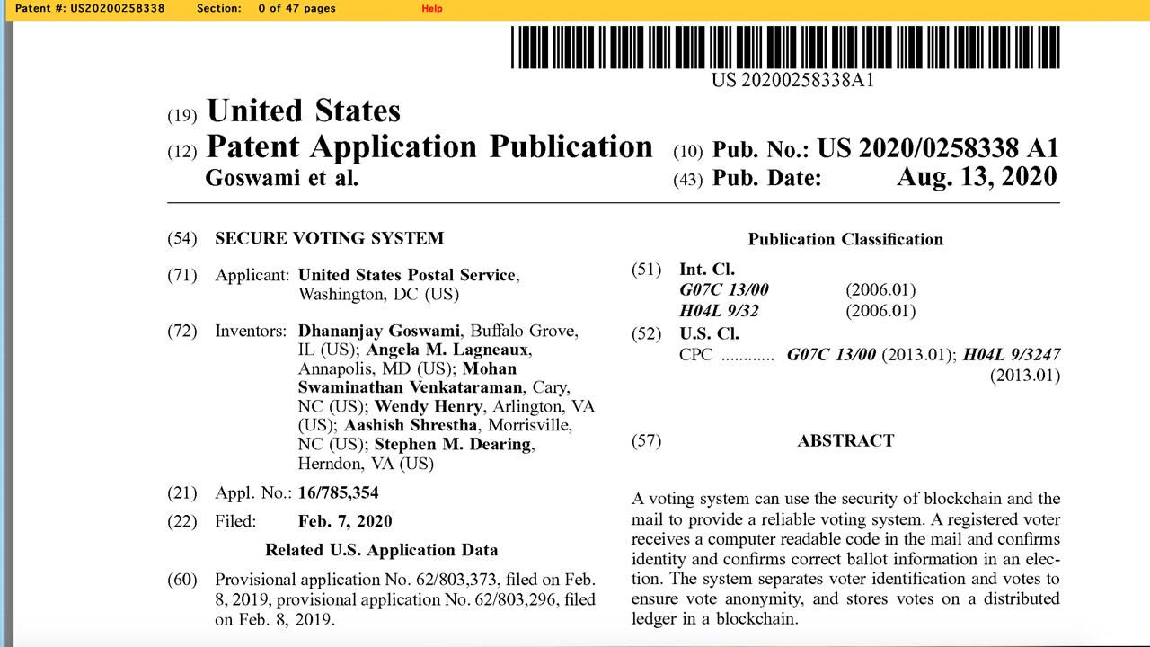 In The Middle Of United States Post Office 'Situation' USPS Record License for Blockchain Mail-in Ballot System 5