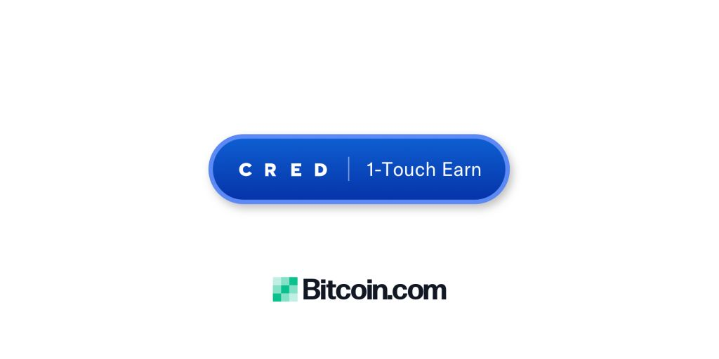"""Bitcoin.com Pockets Launches Cred's 1-Contact """"Earn"""" Button 1"""