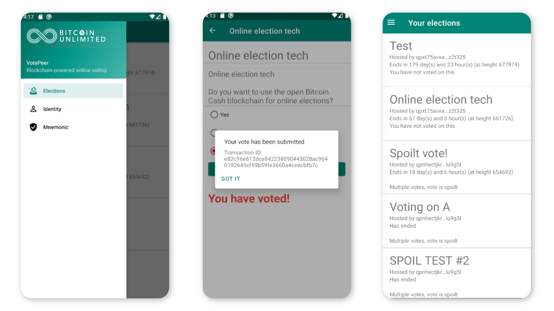 Bitcoin Unlimited Launches Two-Option Voting App Powered by Bitcoin Cash