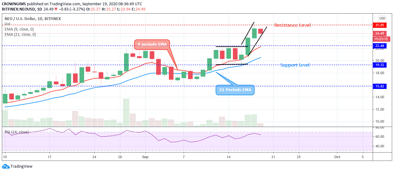NEO/USD Might be Arranging for Turnaround 1
