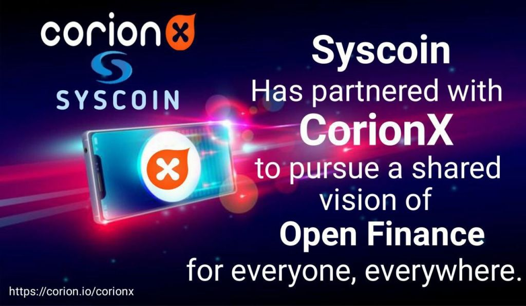 CorionX as well as Syscoin Join Hands to Drive Stablecoin Fostering, CorionX IEO Goes Into 3rd Round 1