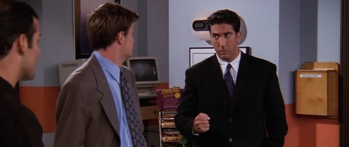 Ross from Friends looking motivated