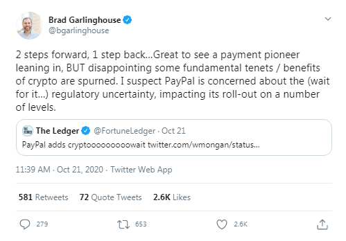 Paypal Crypto Embrace: Morgan Stanely Says Move Boon for Mass Adoption, Critics Say Payment Giant Violating Crypto Principles