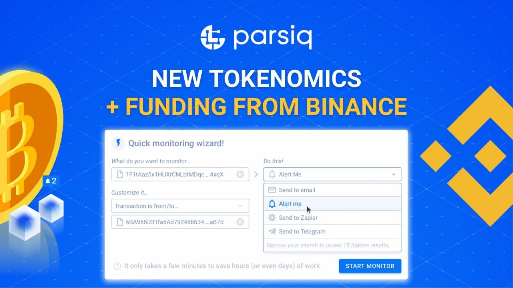 $100 Million Accelerator Fund from Binance Currently Sustains PARSIQ, a Reverse-Oracle Blockchain System 15
