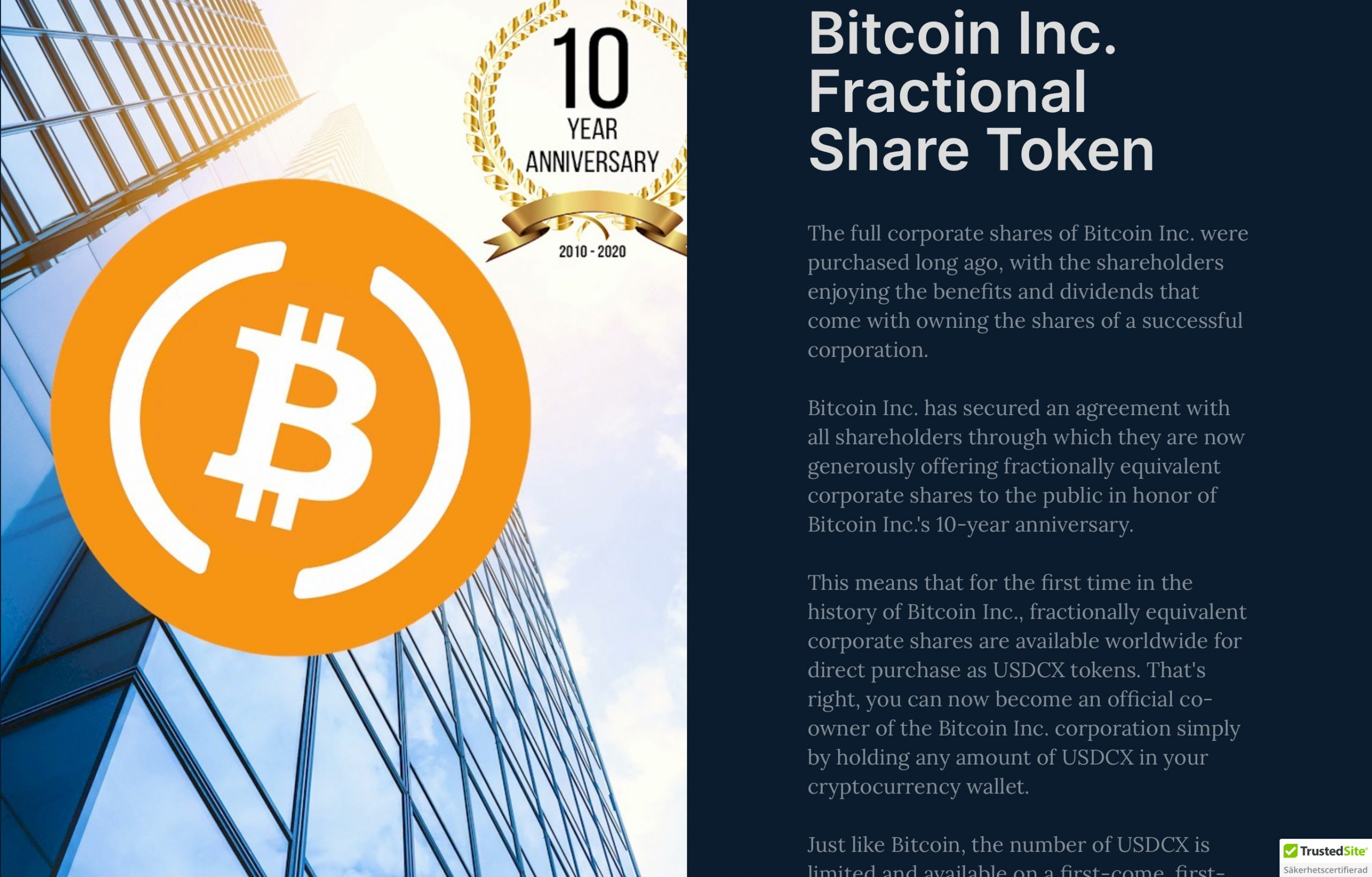 No, You Can Not Acquire Shares in Bitcoin 3