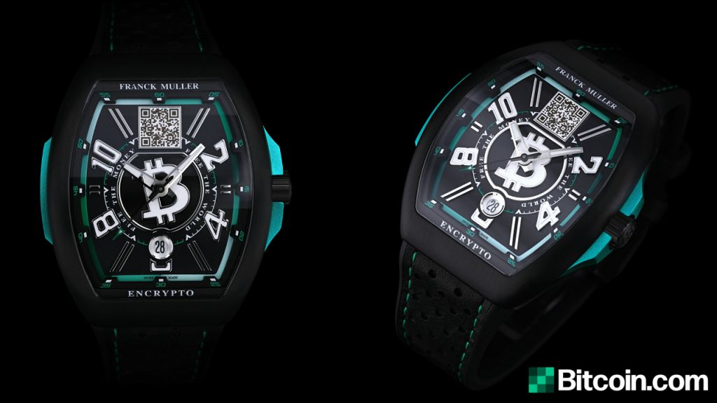 Bitcoin.com Exposes Restricted Version Bitcoin Cash Money Watch Crafted by Deluxe Watch Manufacturer Franck Muller 1