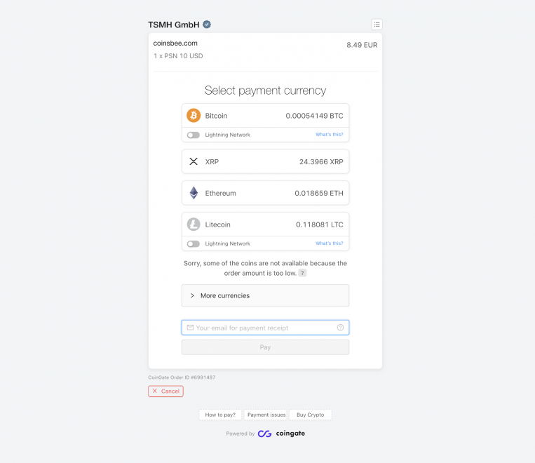 Just How To Purchase Present Cards Or Top Up Your Mobile With Crypto As Well As CoinsBee 7