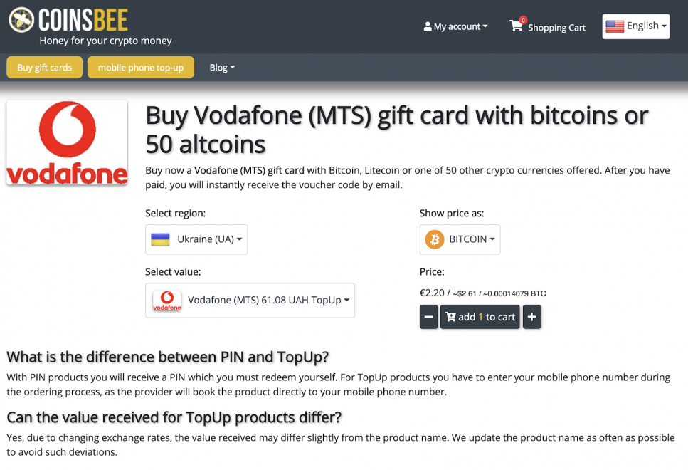 Just How To Purchase Present Cards Or Top Up Your Mobile With Crypto As Well As CoinsBee 9