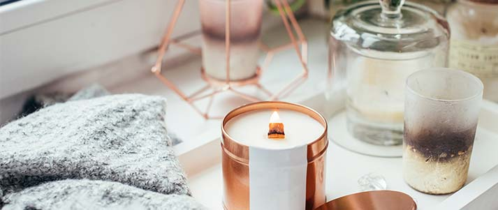 candles decoration modern blanket plants home decor style