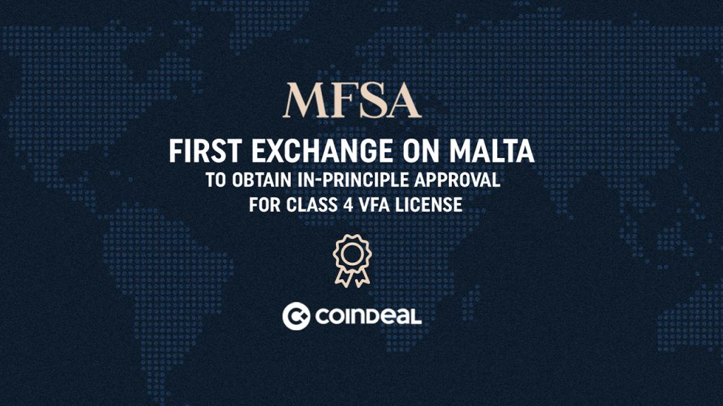 CoinDeal Acquires in-Principle Authorization for Maltese Course 4 VFA Permit 1
