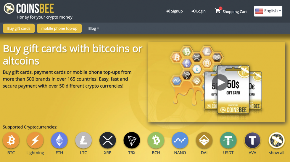 buy gift cards with bitcoin or any other crypto asset