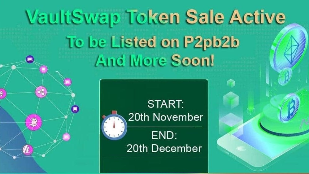 VaultSwap Announces Its Token Sales and also Exchange Listings 1