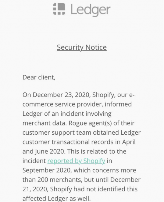 Bitcoin Budget Manufacturer Journal Woes Worsen With Rogue Shopify Information Burglary 2