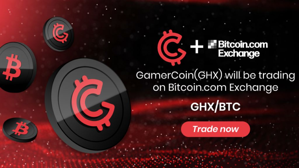 GamerHash (GHX) Token Is Currently Provided on Bitcoin.com Exchange-- News release Bitcoin Information 1