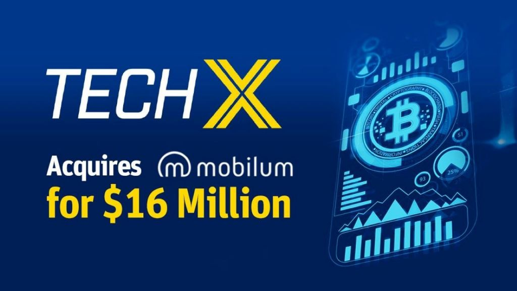 Public Firm TechX Technologies Is Making Considerable Purchases in the Crypto Market-- Funded Bitcoin Information 1