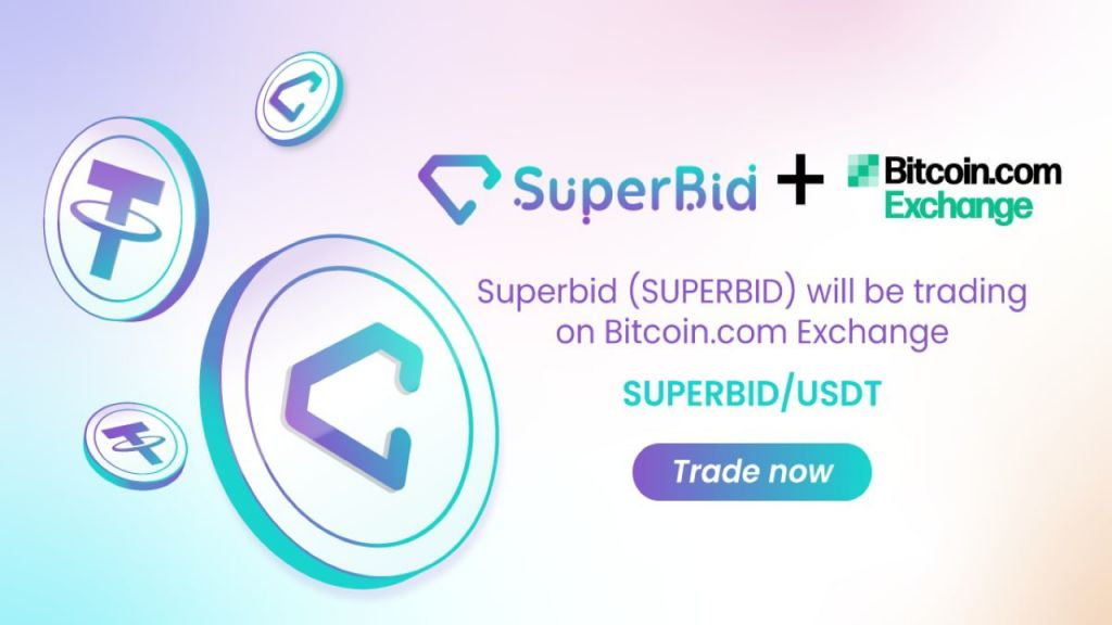 SuperBid (SUPERBID) Token Is Currently Noted on Bitcoin.com Exchange-- News release Bitcoin Information 1