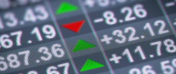 stock prices showing up and down