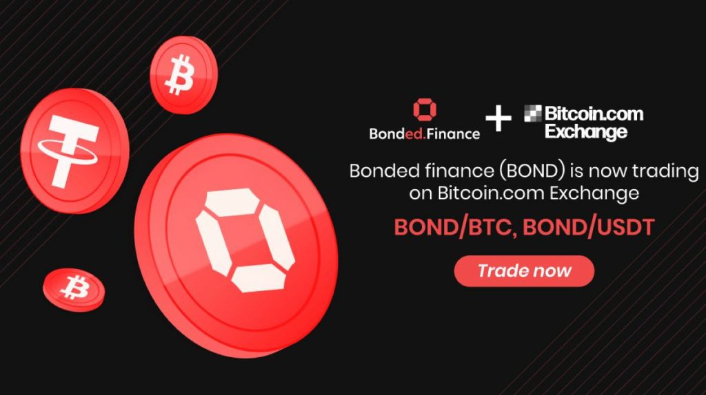 Bonded.Finance (BOND) Token Is Currently Detailed on Bitcoin.com Exchange-- News release Bitcoin Information 1