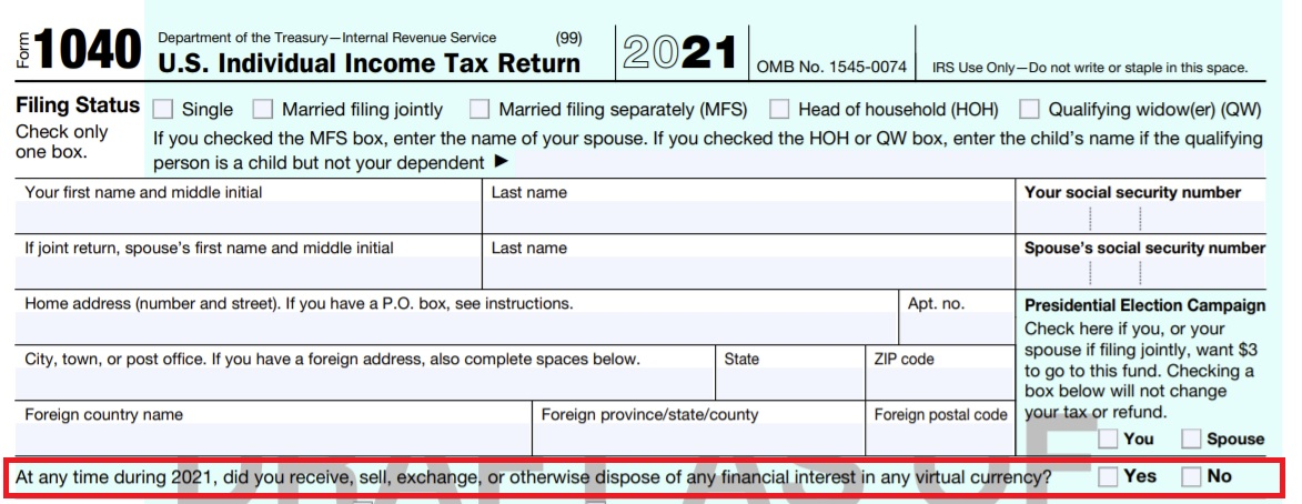 Internal Revenue Service Changes Crypto Concern on Tax Return-- Currently Concentrating On Taxed Cryptocurrency Purchases-- Tax Obligations Bitcoin Information 2