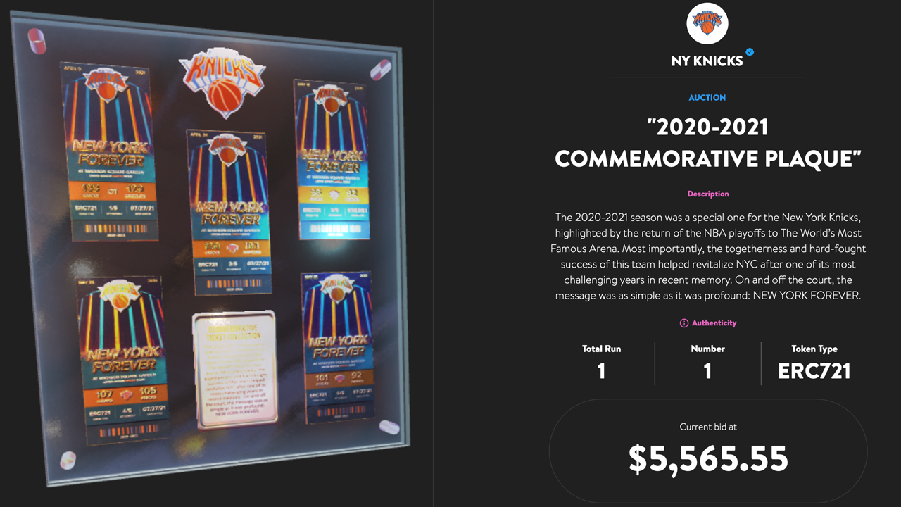 New York City Knicks Introduce Group's First NFT Collection-- Blockchain Bitcoin Information 2