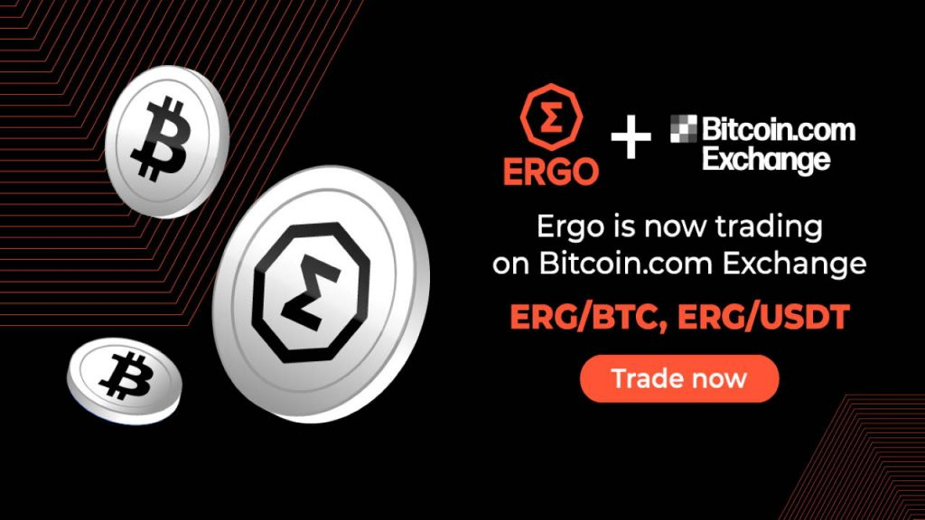 Ergo (ERG) Token Is Currently Provided on Bitcoin.com Exchange-- News release Bitcoin Information 1