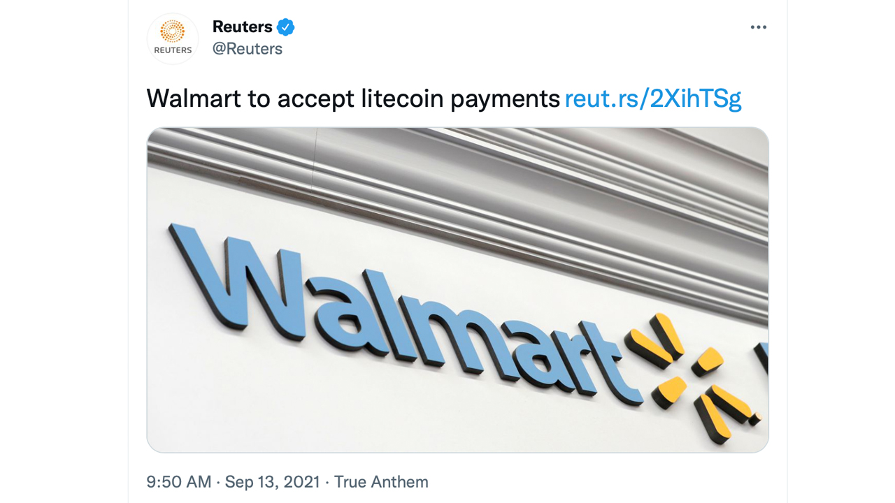 Walmart and Litecoin Payment News Debunked by Walmart Spokesperson, LTC Prices Shudder from Fake News