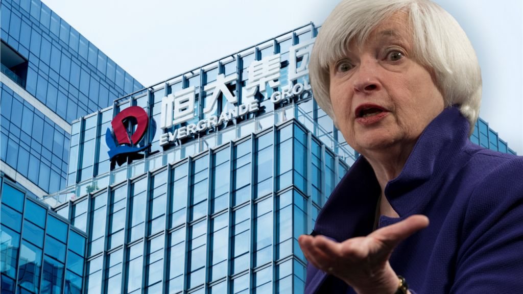 Evergrande Losses Stimulates Anxiety of Looming Debt Transmission, Janet Yellen Asks to Increase United States Financial Debt Ceiling-- Business Economics Bitcoin Information 1
