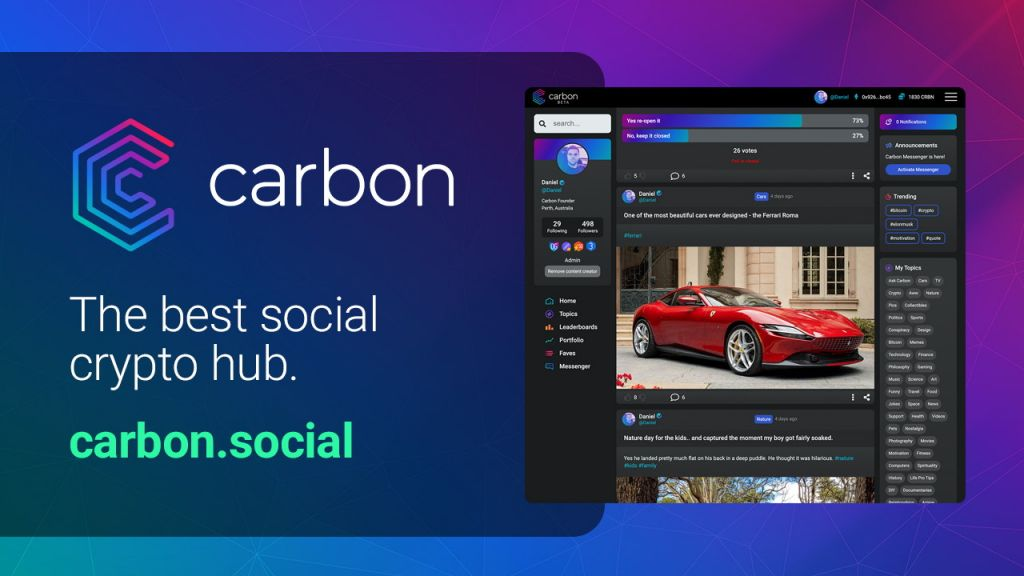 The Highly Anticipated Carbon Social System Has Actually Introduced-- News release Bitcoin Information 1